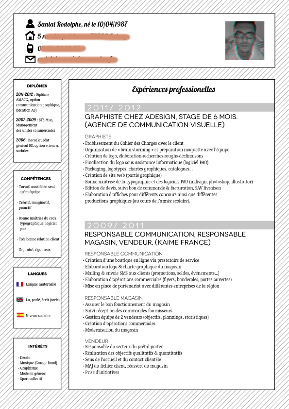 cv agent de production usine