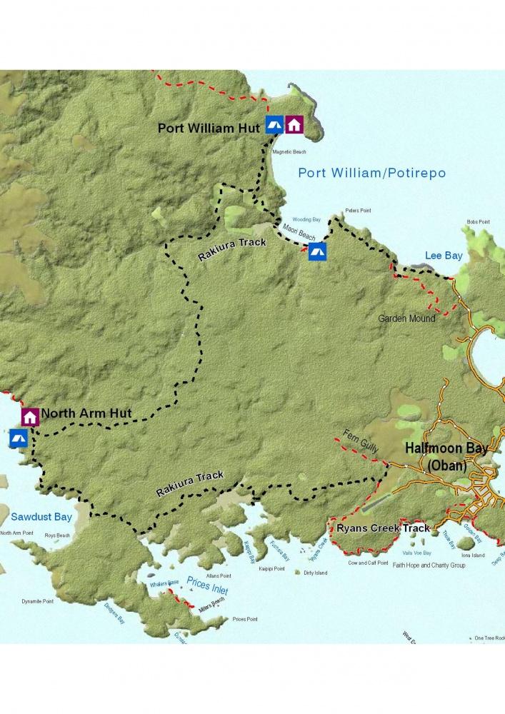 Cliquez sur l'image pour la voir en taille réelle  Nom : rakiura-track-map-a4.jpg Affichages : 452 Taille : 291,7 Ko ID : 16962
