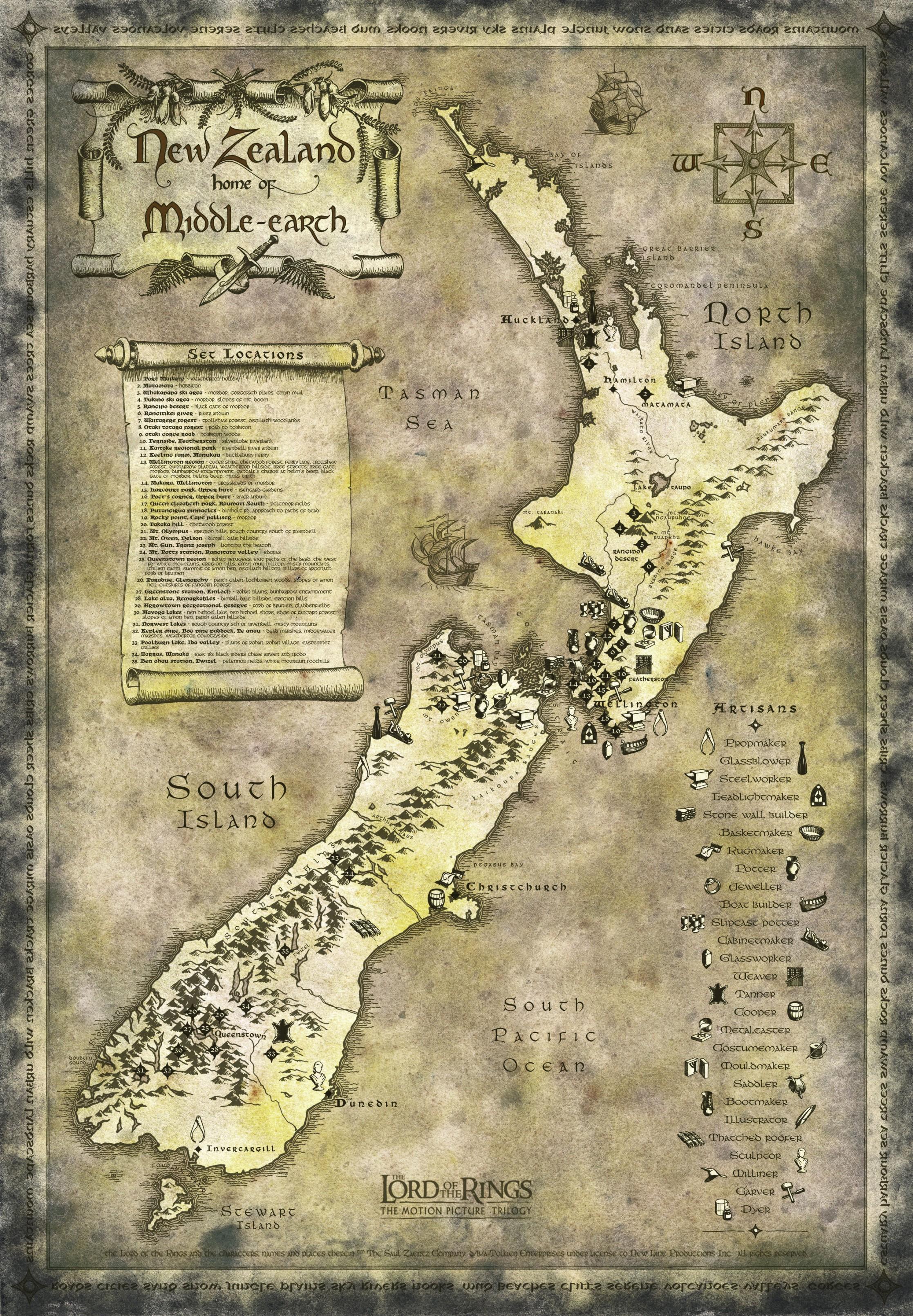 profiter de prix bas dernière sélection célèbre marque de designer Around NZ Lord of the rings: les lieux du tournage