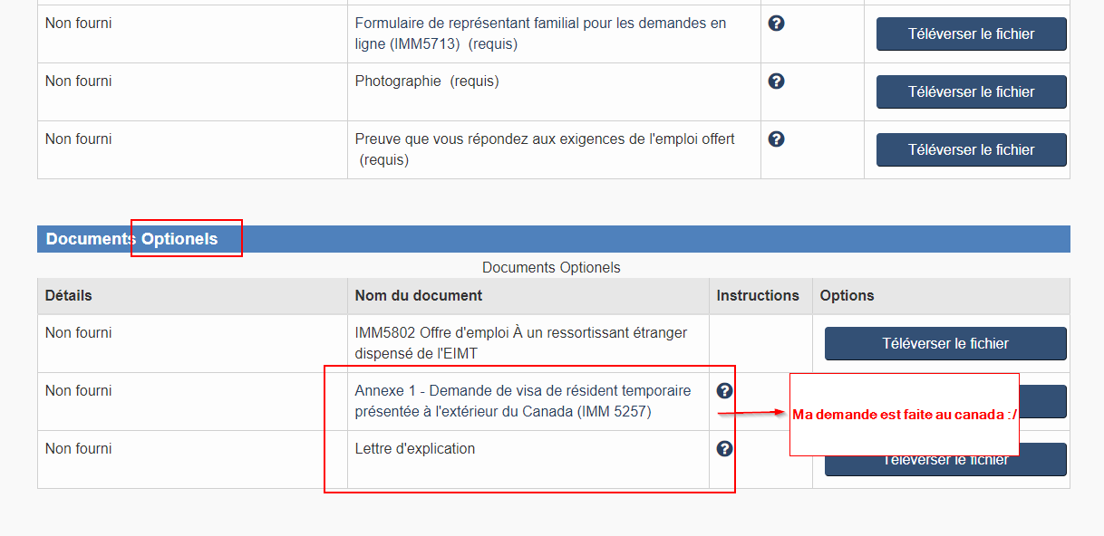 visa pour travailler au canada