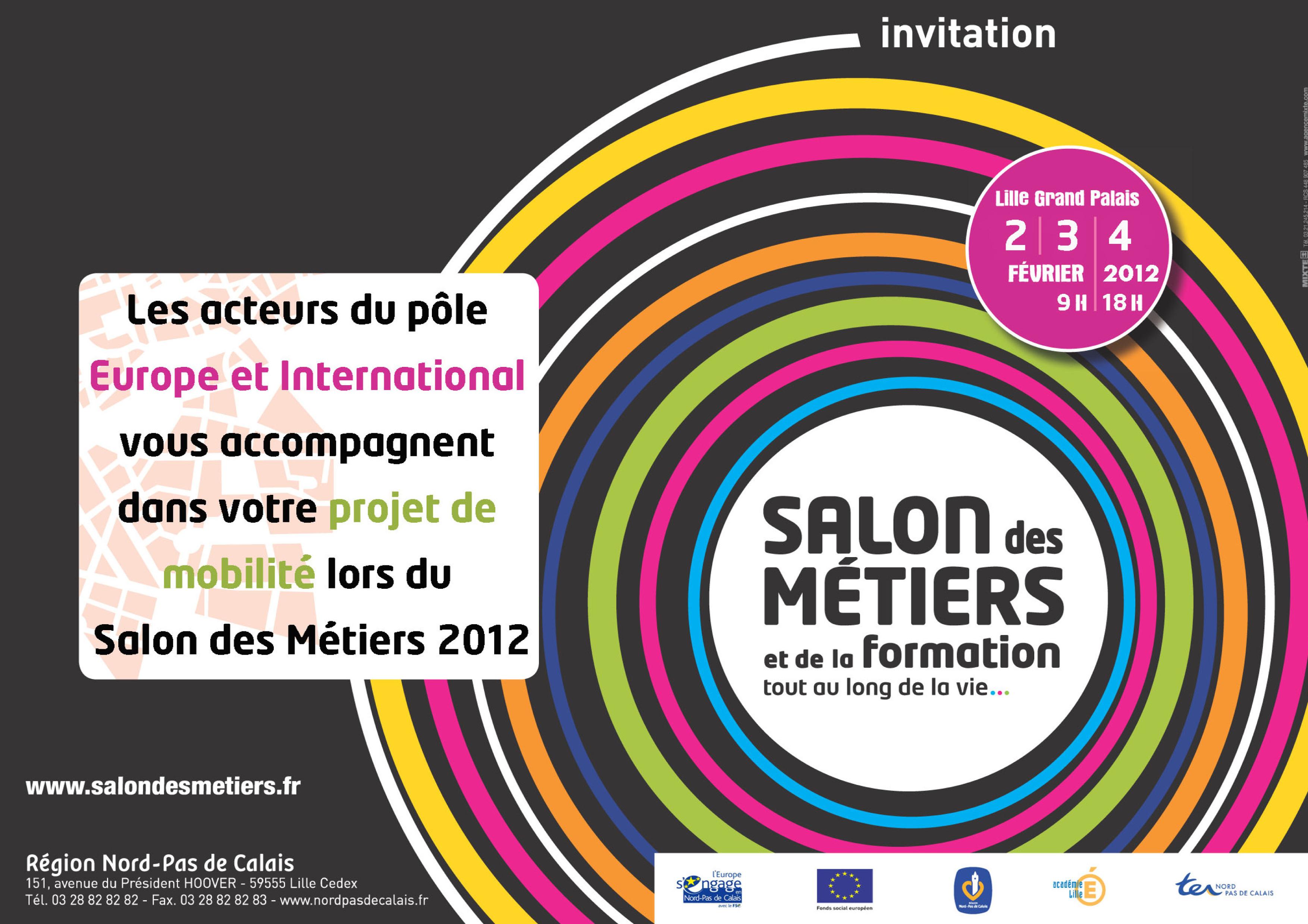 Salon des m tiers 2012 lille le pvt au programme for Salon de l apprentissage lille