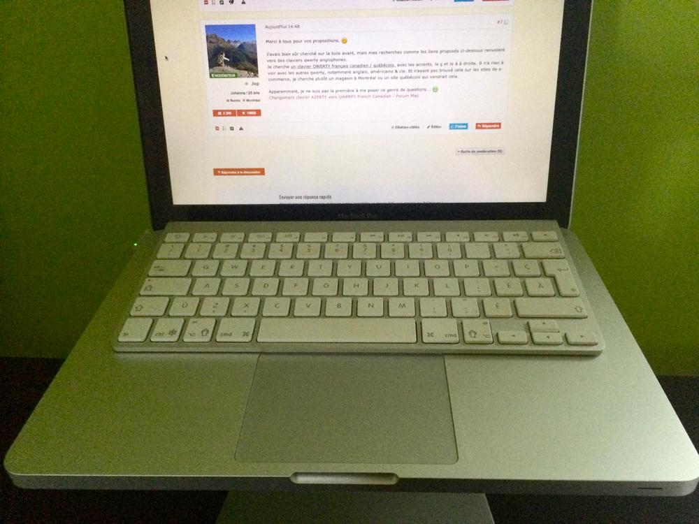 forum nouvelles technologies  macbook transformer clavier azerty en qwerty francais canadien