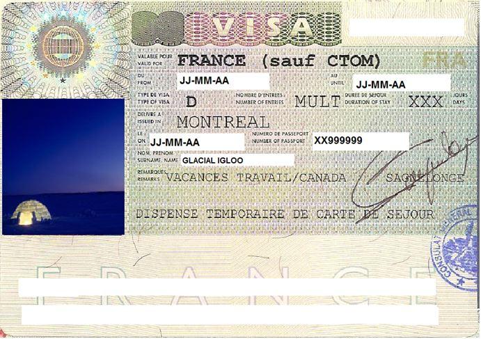 les papier necessaire pour le visa en france
