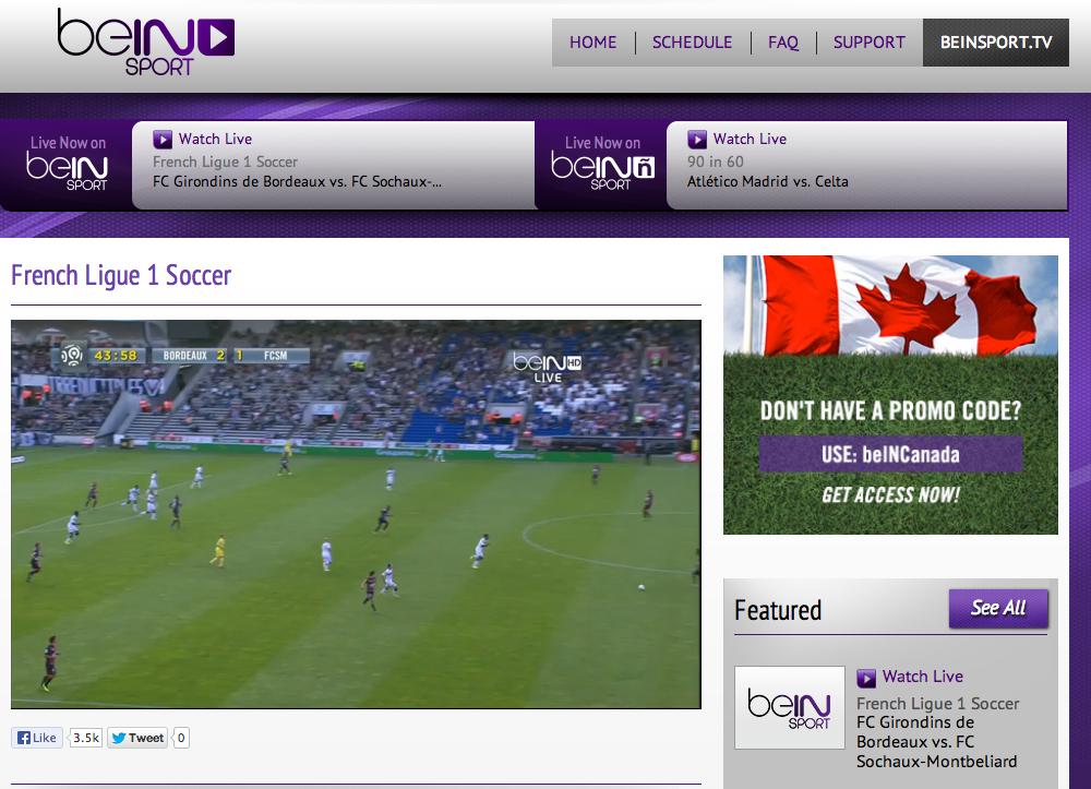Regarder les matchs de foot gr ce bein sport canada - Distance pour regarder tv ...