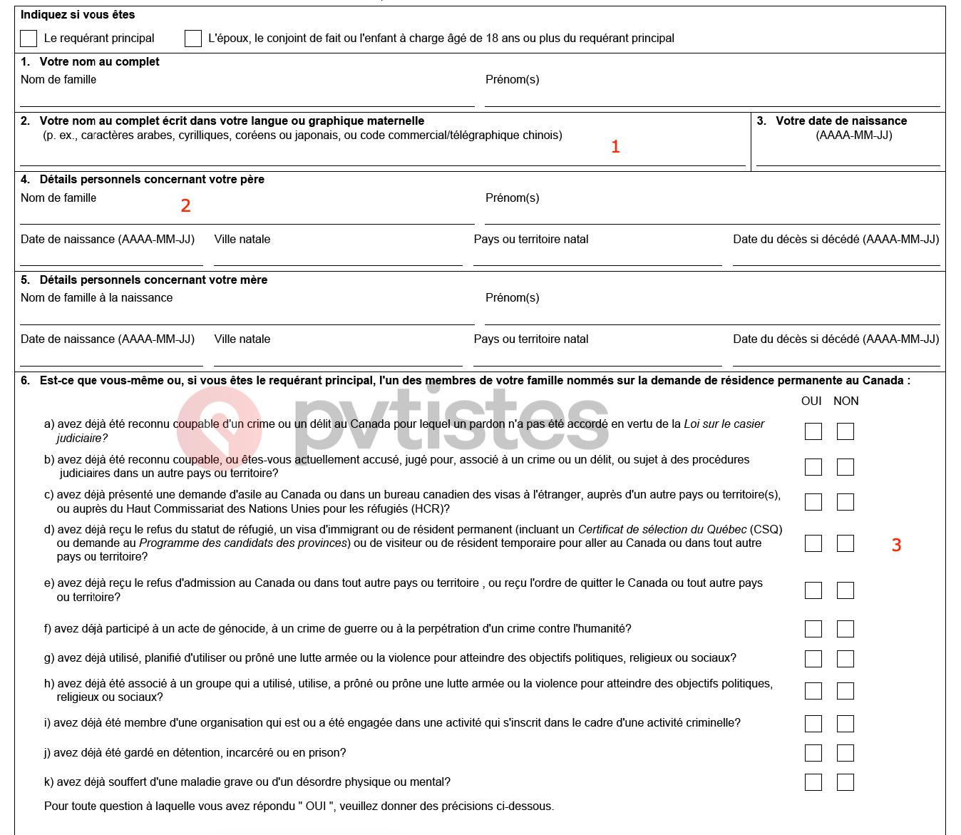 toriel Residence Permanente Canada - Federal 10