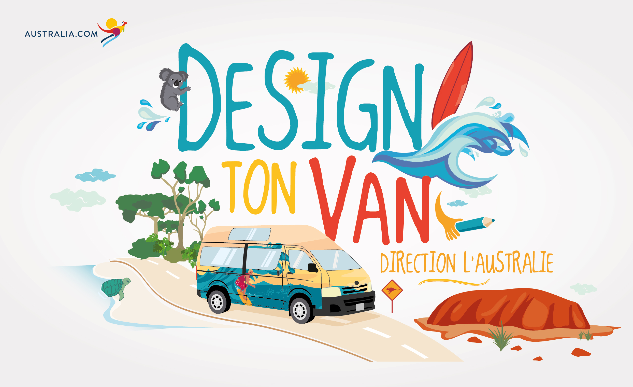 Design ton van direction l 39 australie - Office du tourisme australie ...