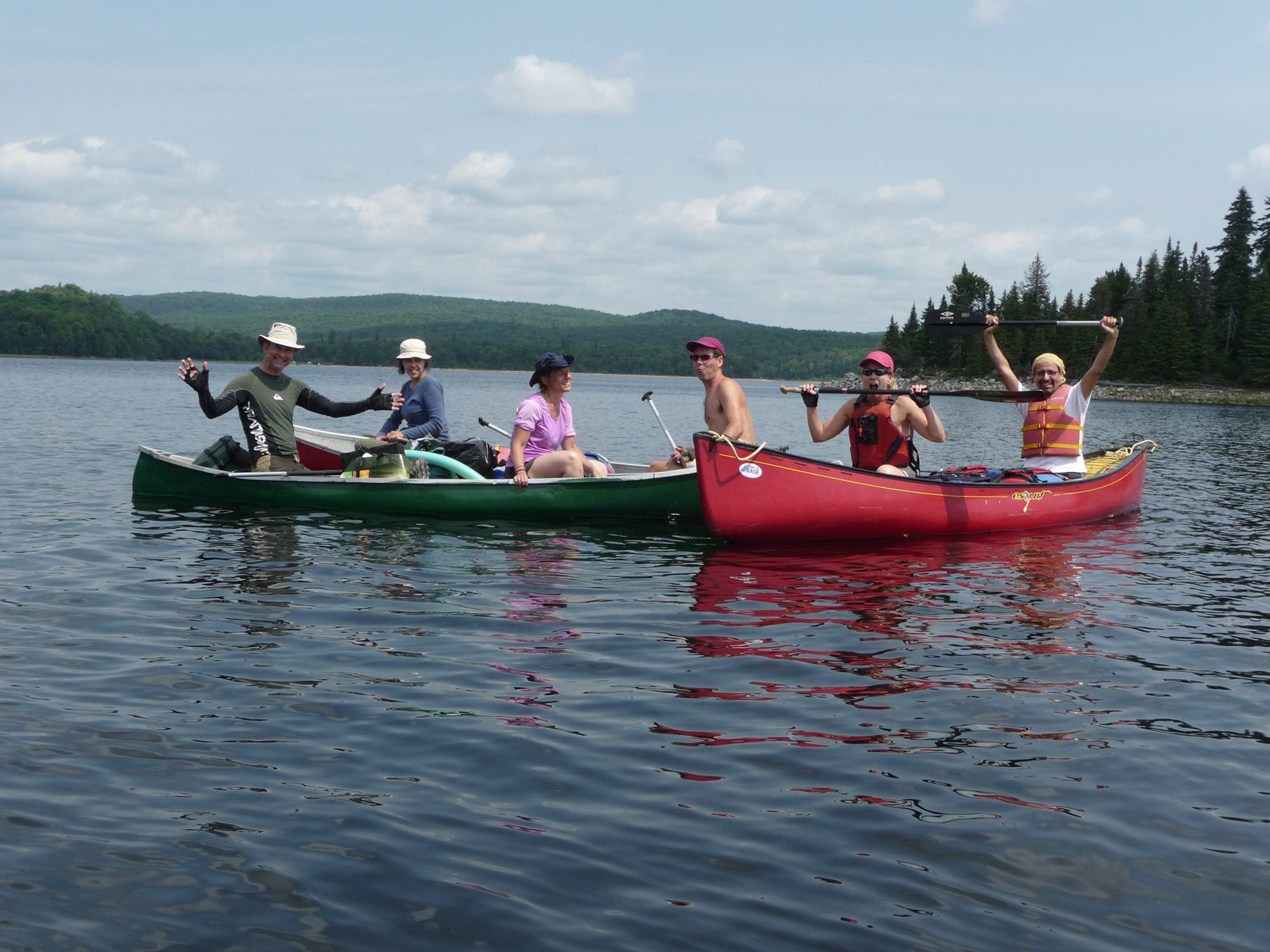 on a teste le canot camping au quebec