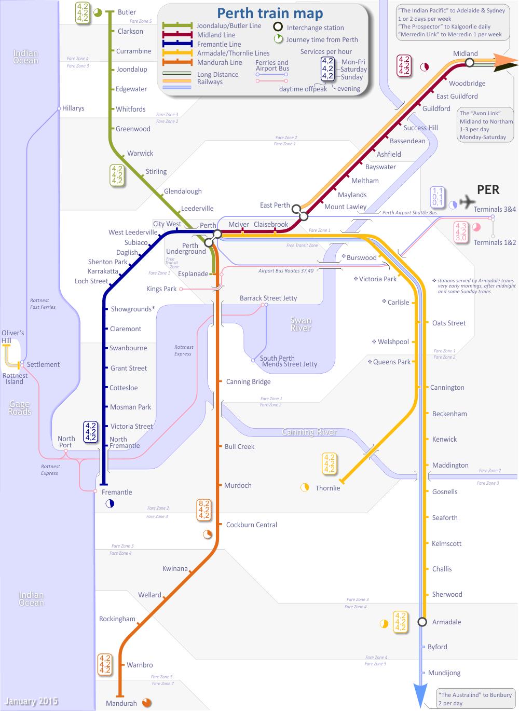 perth rail map australia sydney-#5