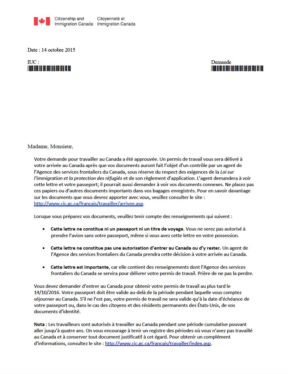 Jp stage coop et pvt canada la lettre de correspondance - Comment avoir son permis du 1er coup ...