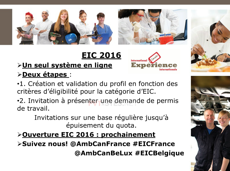 changement procedure EIC : PVT Canada 2016