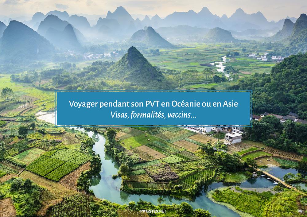 Tableau - Tourisme en Asie et dans le Pacifique pendant son PVT 1
