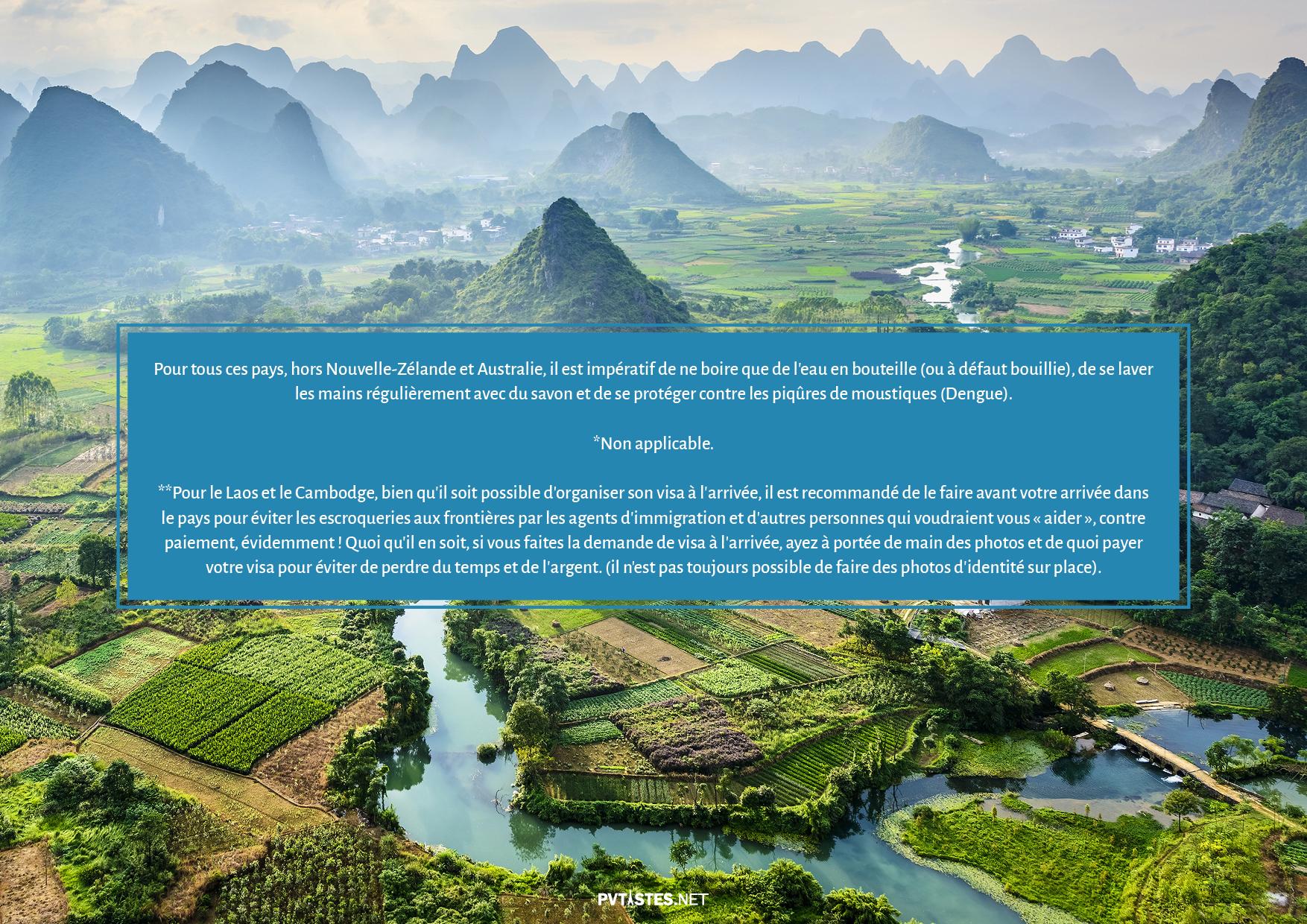 Tourisme en Asie et dans le Pacifique - Visas et Vaccins 8