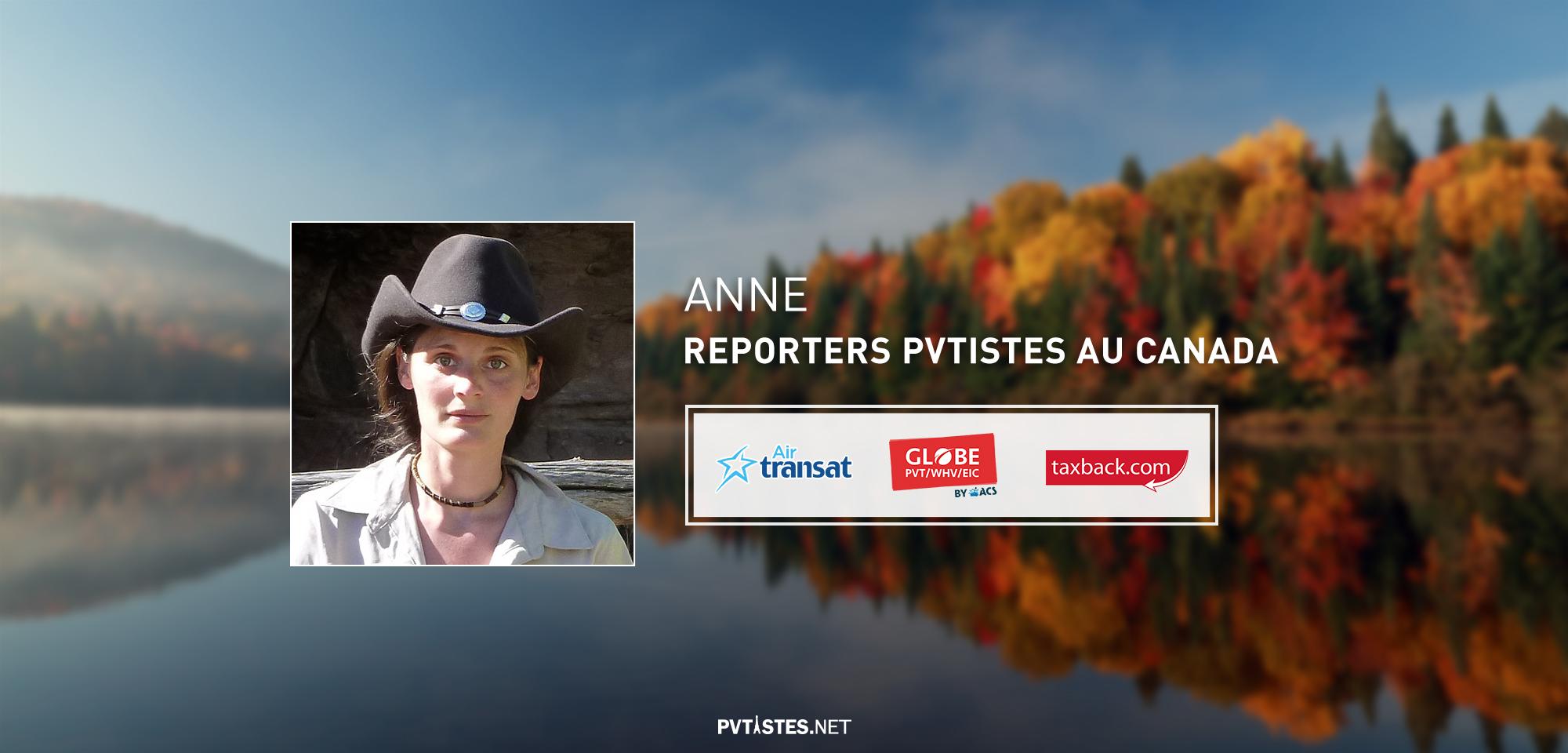 Arrivée au Canada de Anne, reporter PVTiste 2016