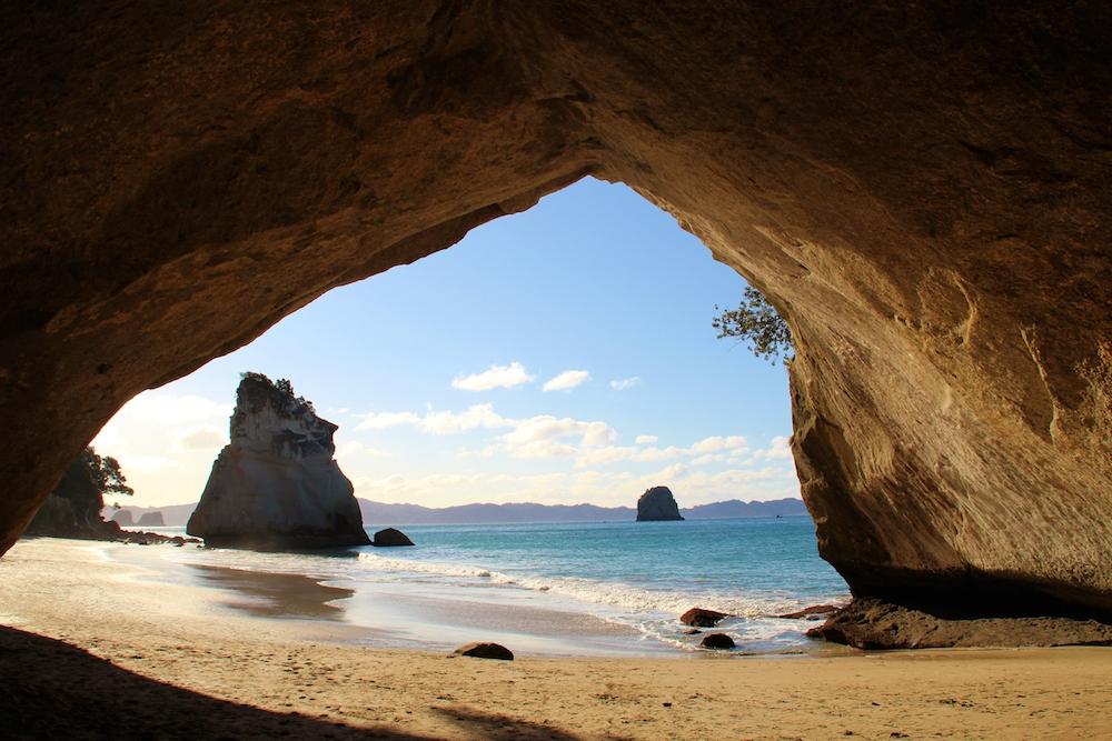 Cathedral cove - PVTistes voyage stop et HelpX en Nouvelle-Zélande