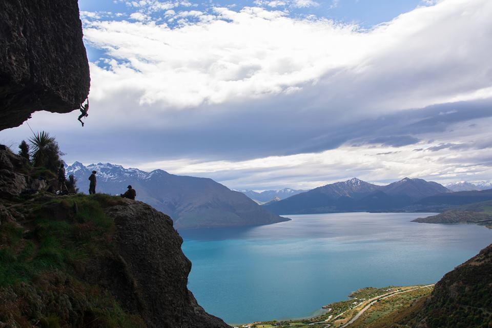 Cordiste en Nouelle-Zelande - Escalade Queenstown