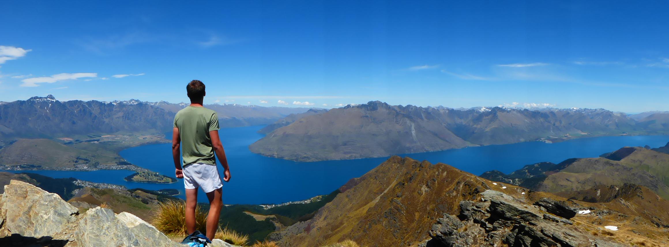 Mathieu - Macon en Nouvelle-Zelande - Ben Lomond summit, Queenstown