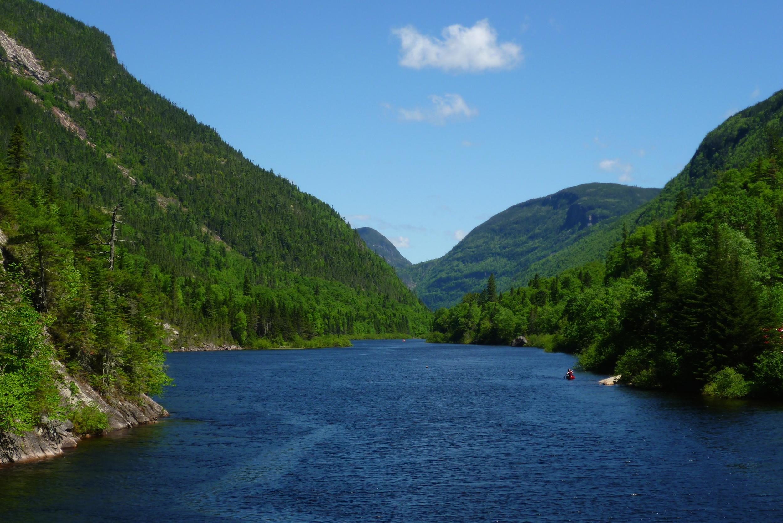 Acheter un van au Canada - Riviere Malbaie - Parc des Hautes Gorges