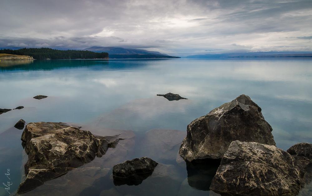 Lake pukaki mauvais temps