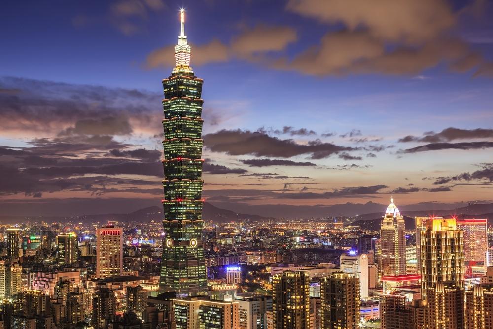 Centre-ville de Taipei au coucher du soleil - PVT Taiwan