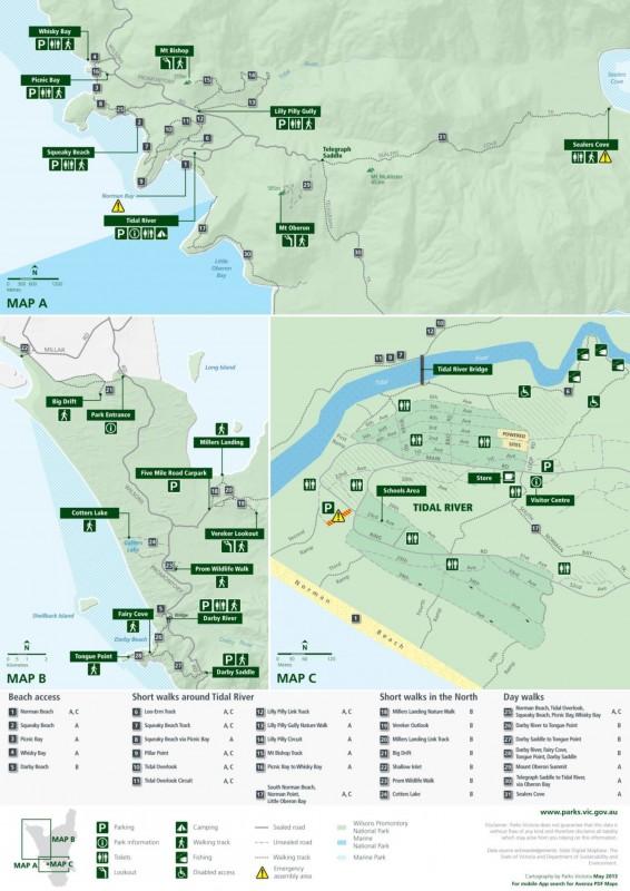 Wilsons Promontory Park-Carte