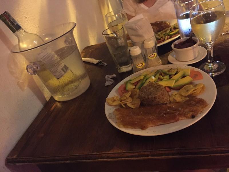Un plat du jour typique en Colombie