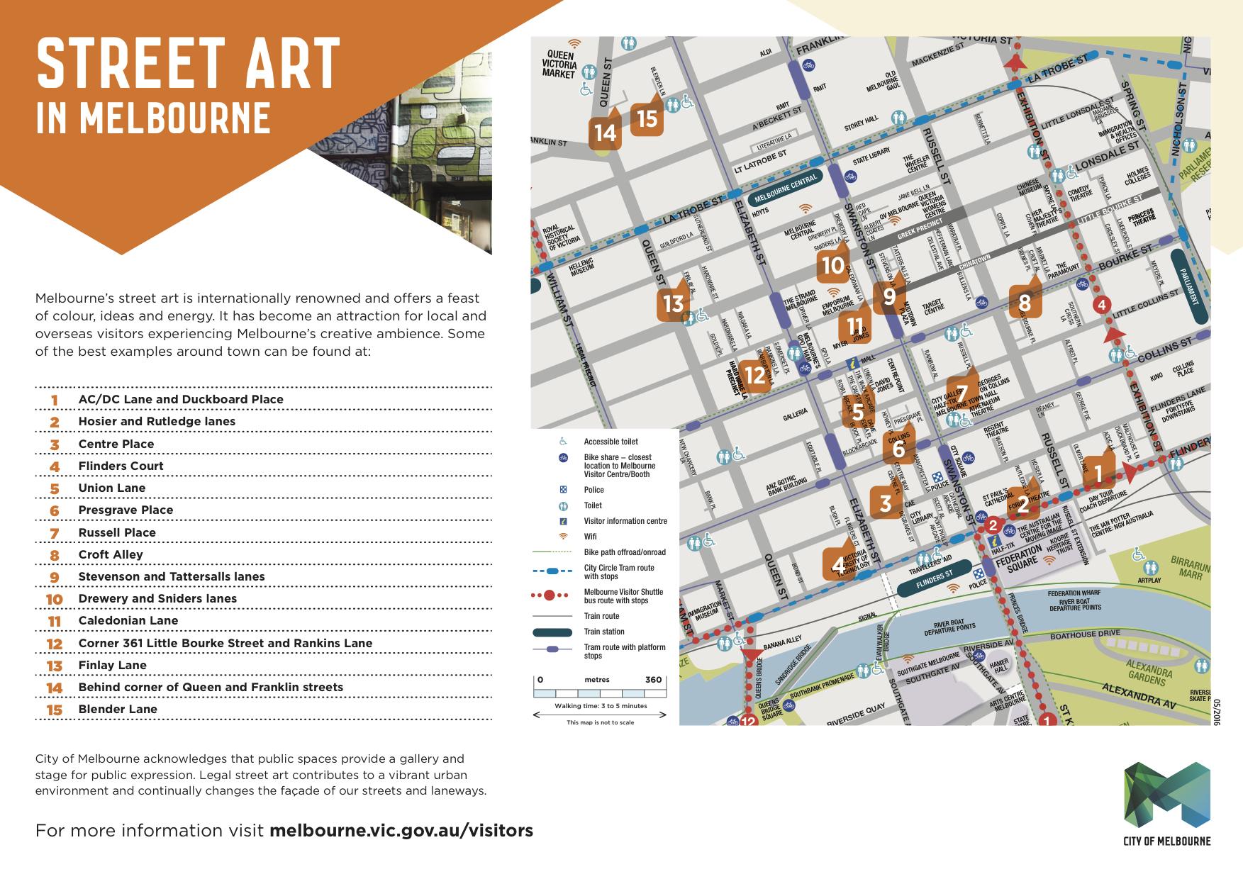 Carte - Streetart - WHV a Melbourne - Australie