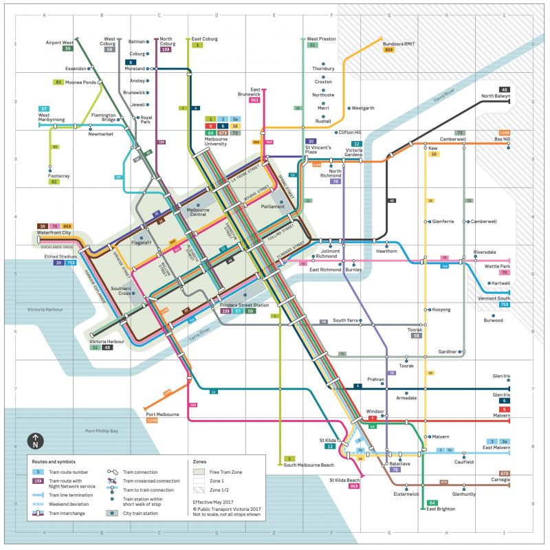 reseau-tramway-Melbourne