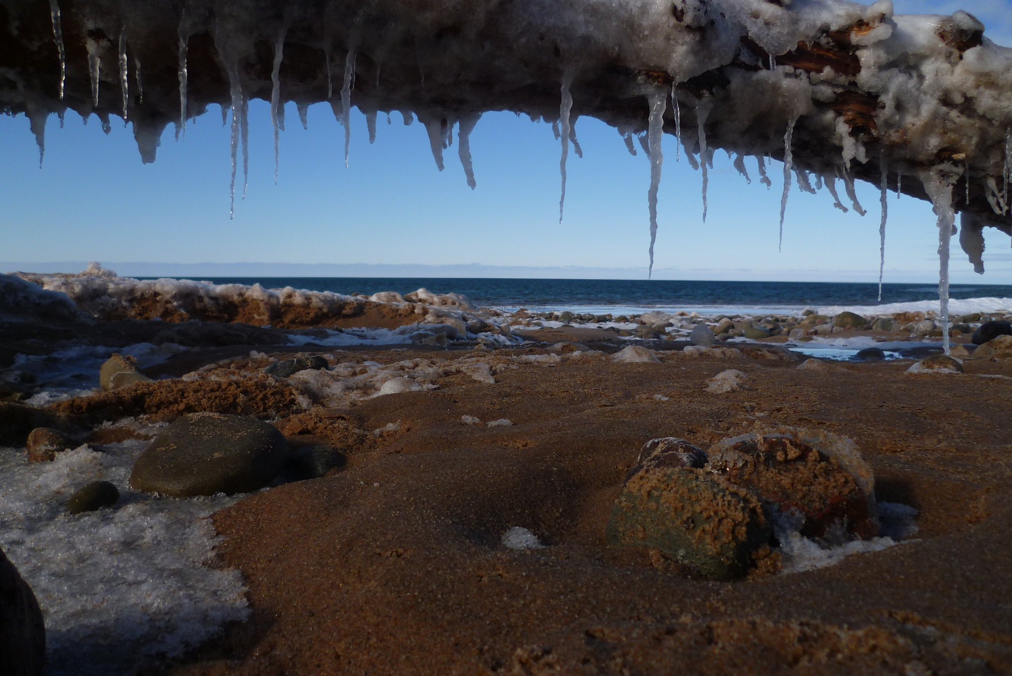 Hiver au Canada - Plage d'Inverness - Cap Breton, Nouvelle-Ecosse