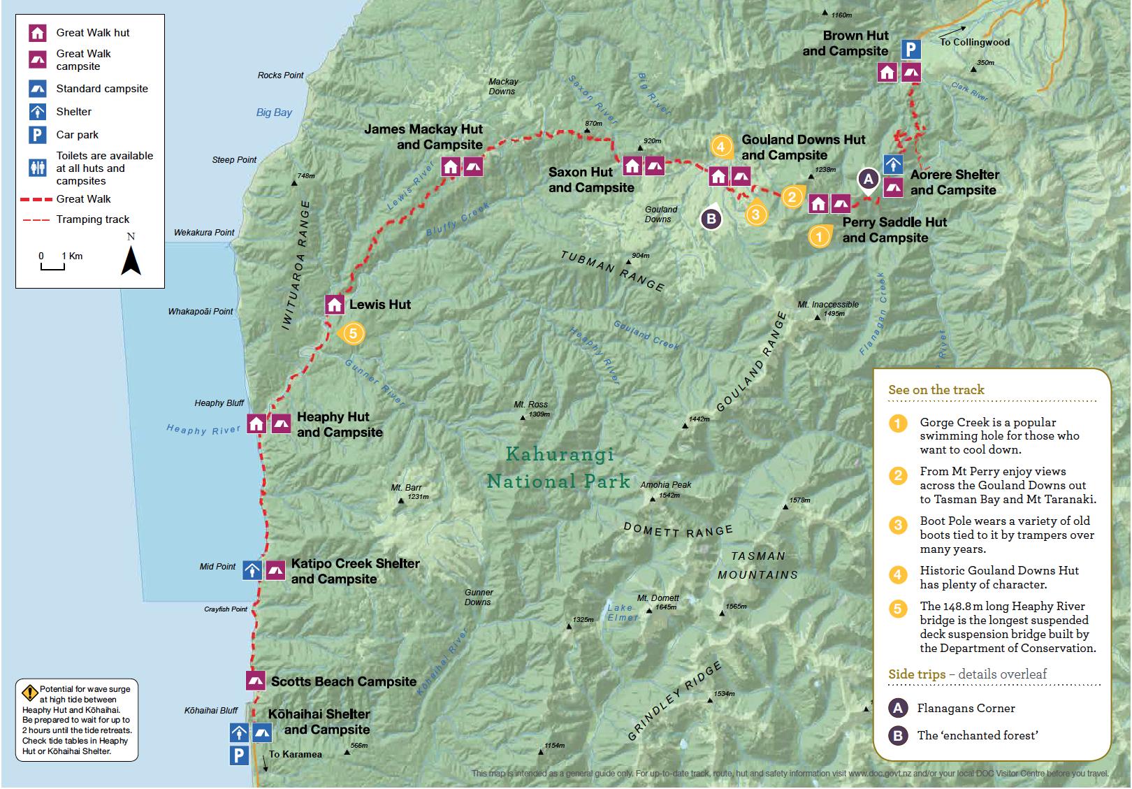 Heaphy Track Nouvelle-Zelande Plan