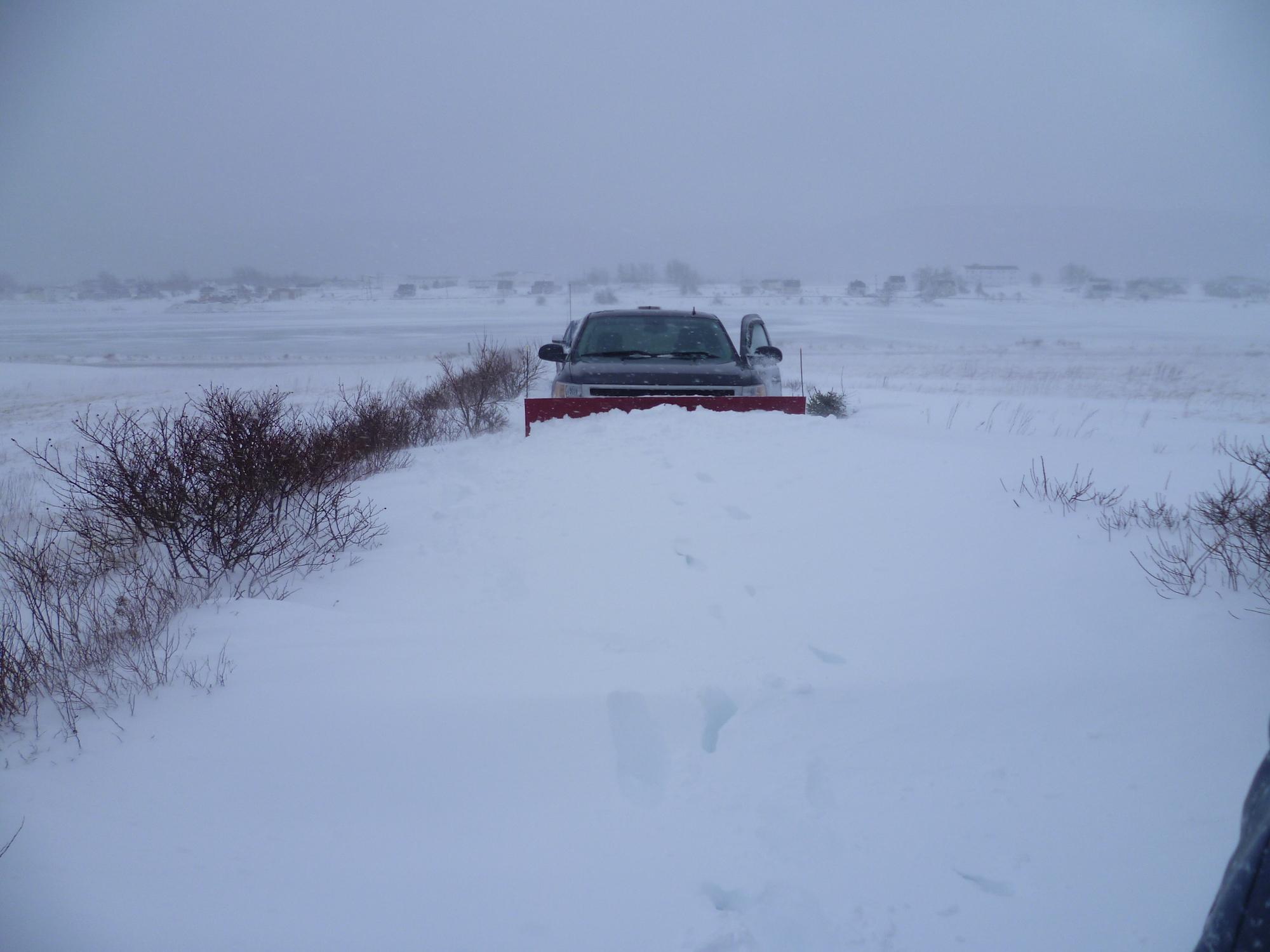 Hiver au Canada - La déneigeuse enneigée