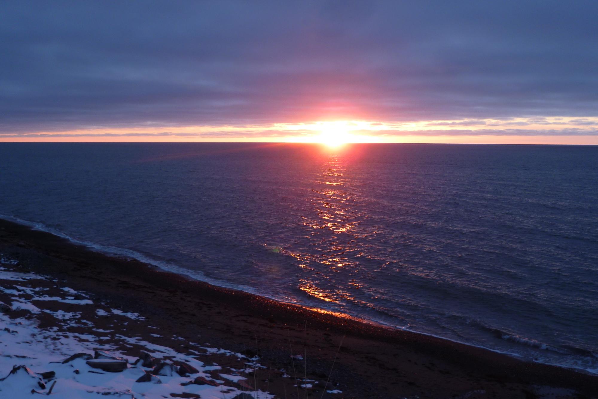 Hiver au Canada - Sunset à Grand-Etang