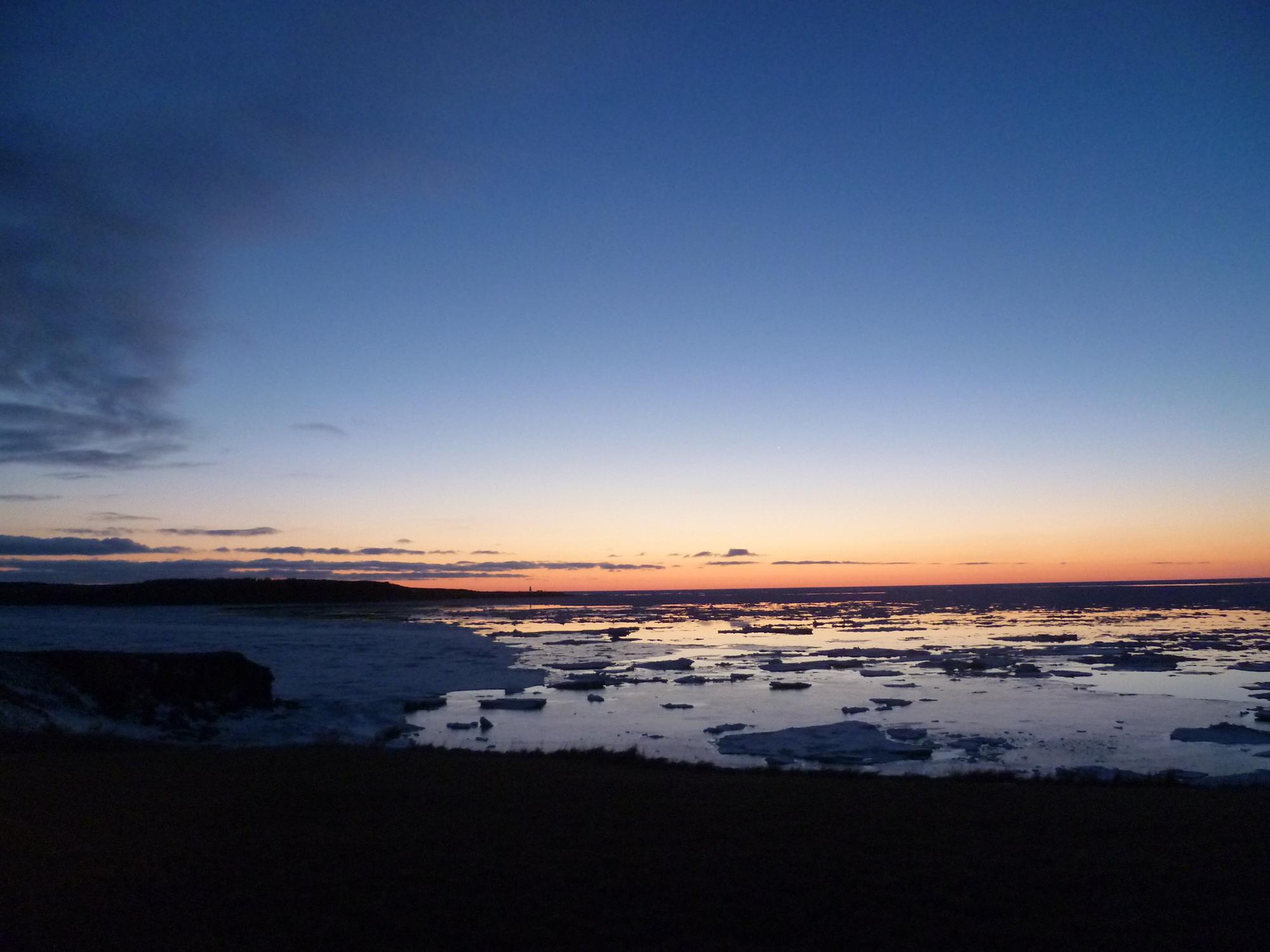 Hiver au Canada - Sunset sur l'île de Chéticamp