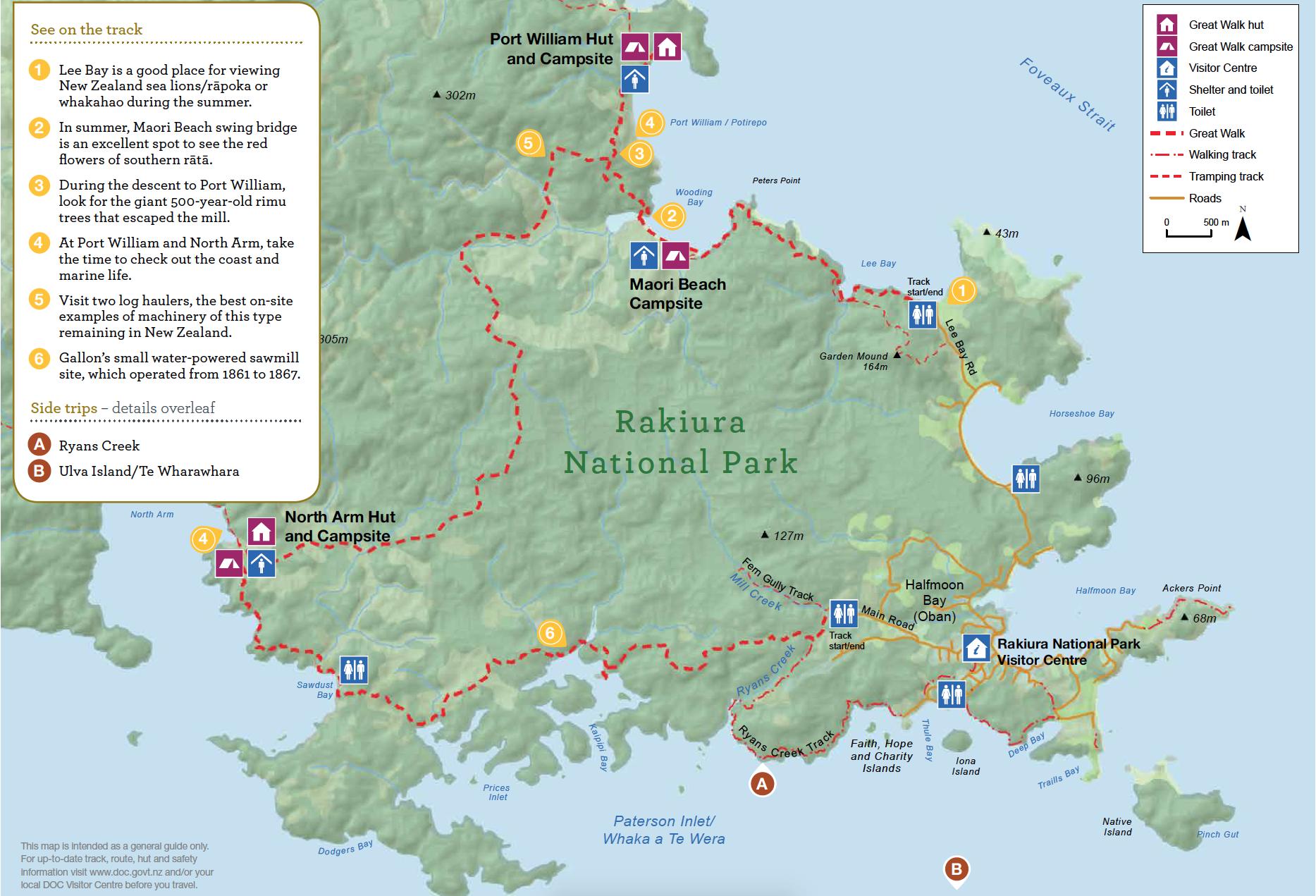 Rakiura Track Nouvelle-Zelande Plan