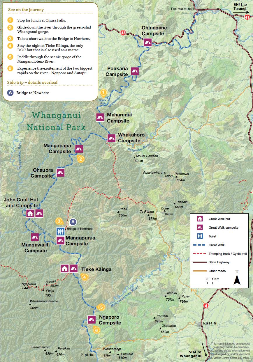 Whanganui Journey Nouvelle-Zelande - Plan