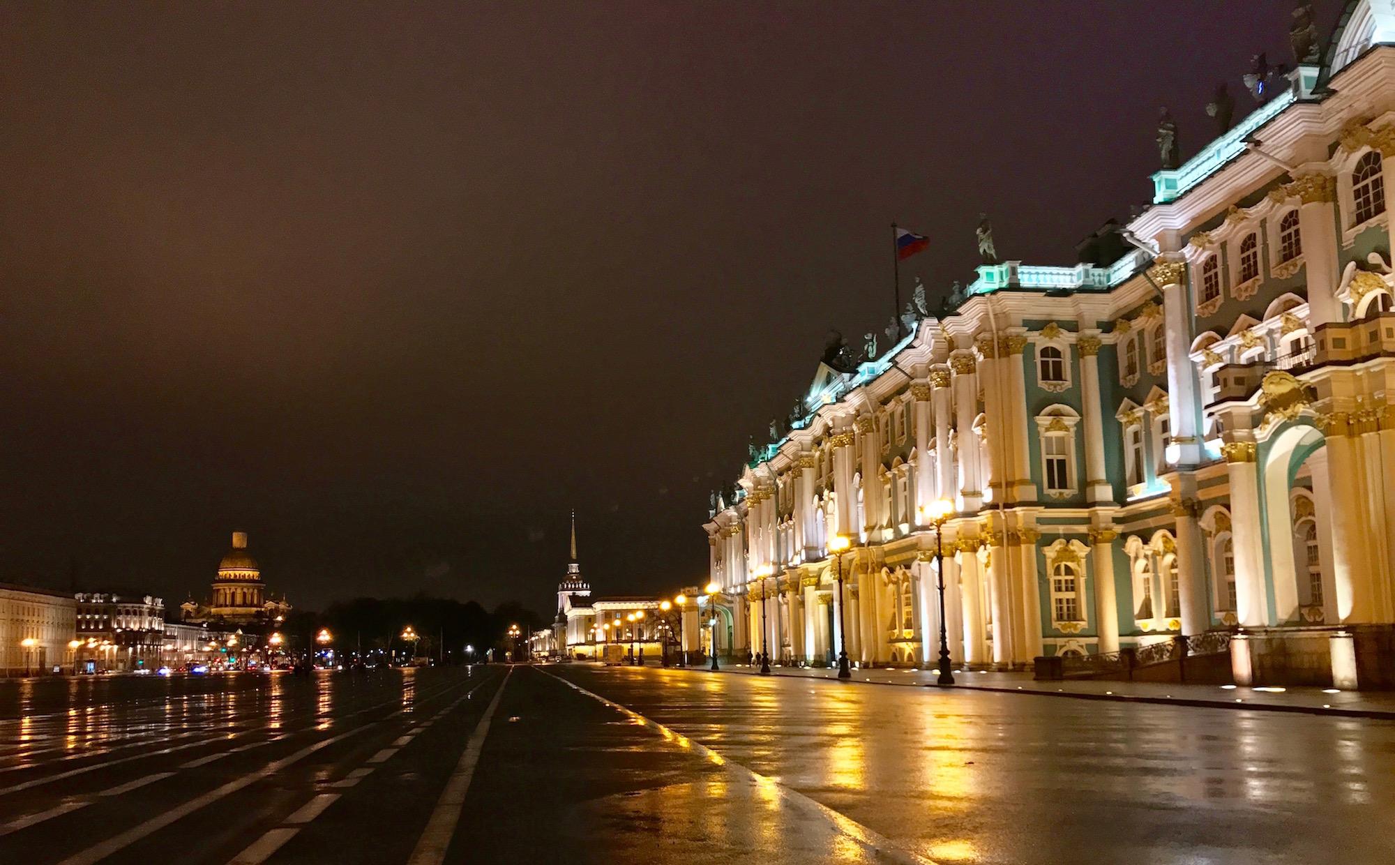 Musee Ermitage de nuit Saint-Petersbourg - Russie