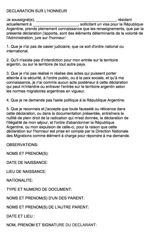 Declaration-sur-l'honneur-argentine