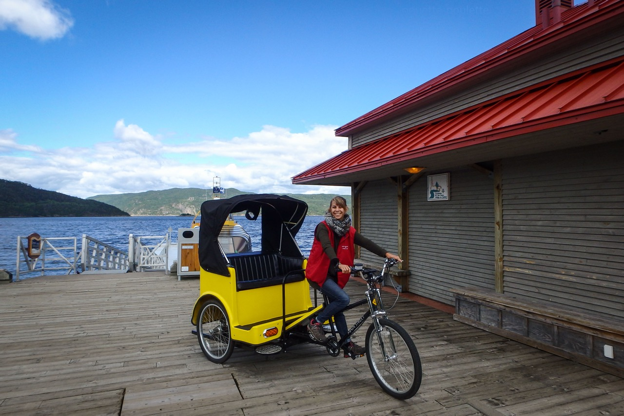 Interview guide touristique en velo-taxi au Quebec