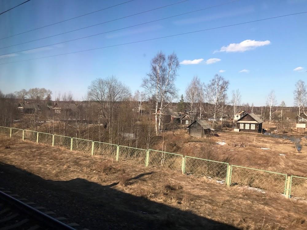 Russie dans le train de St Petersbourg a Moscou