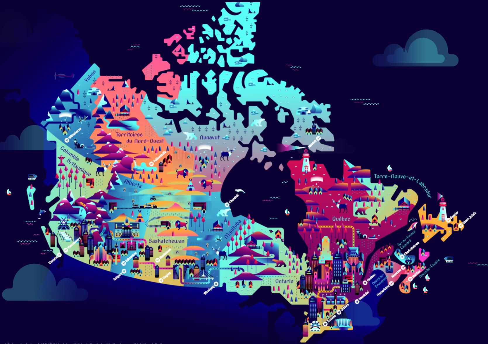 canada   une carte interactive pour pr u00e9parer son s u00e9jour touristique