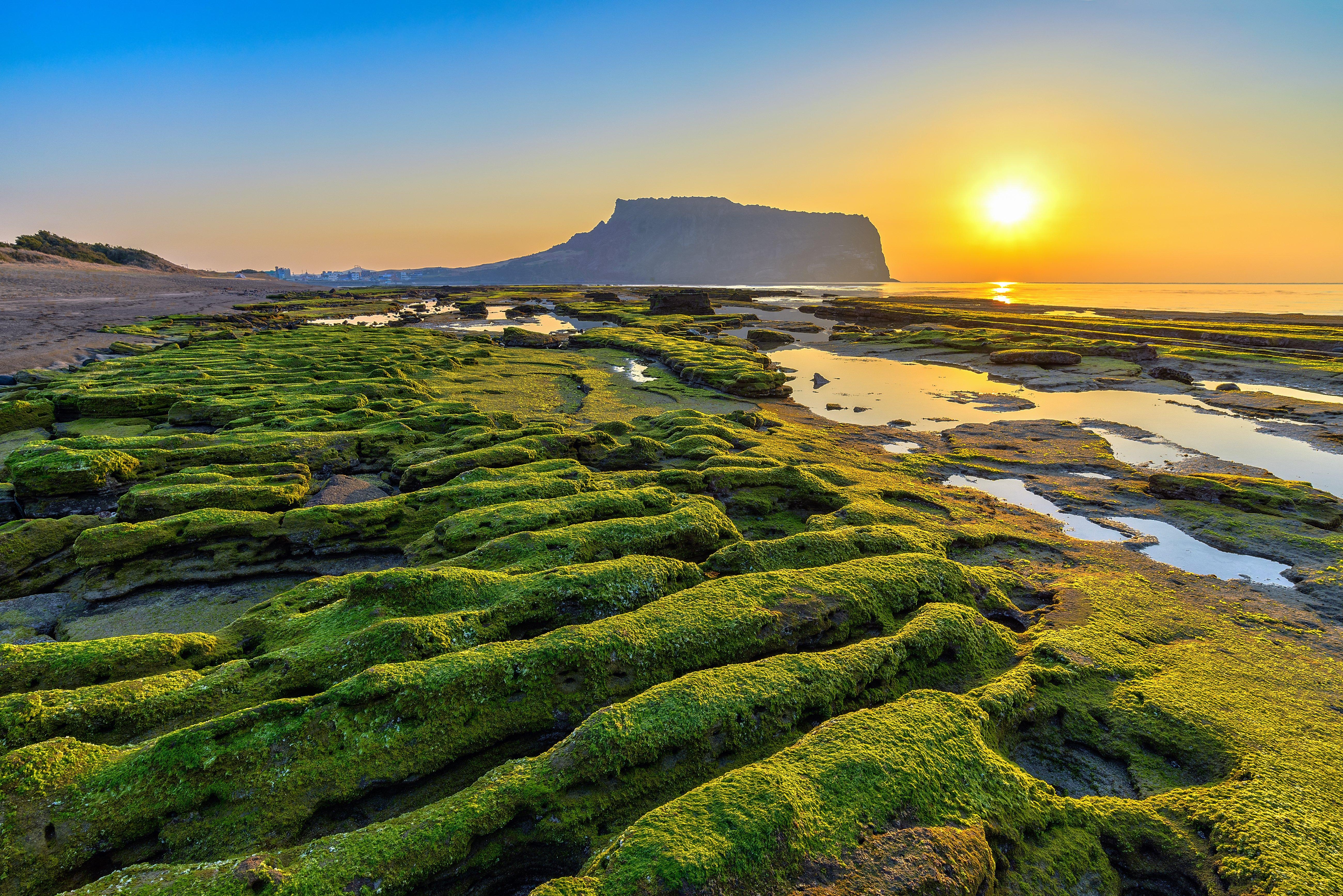 Coucher de soleil Ile de Jeju Coree du Sud