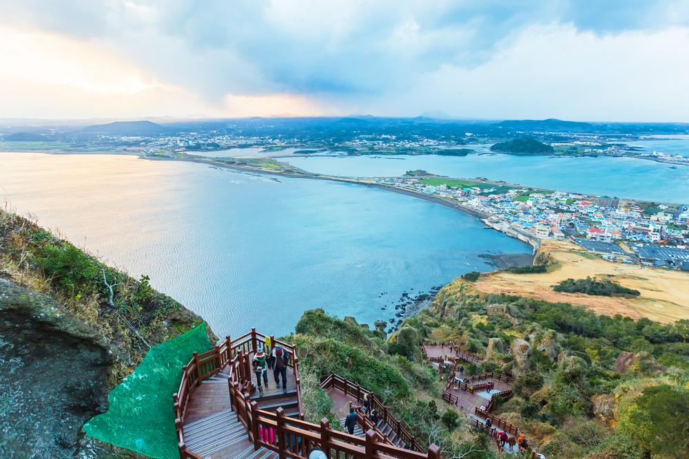 Jeju-Do vue des hauteurs Coree du Sud