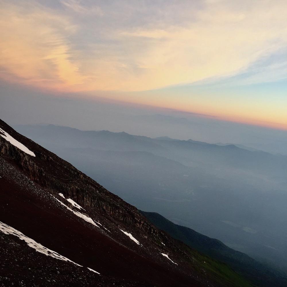 Coucher de soleil - Ascension du Mont Fuji - Japon