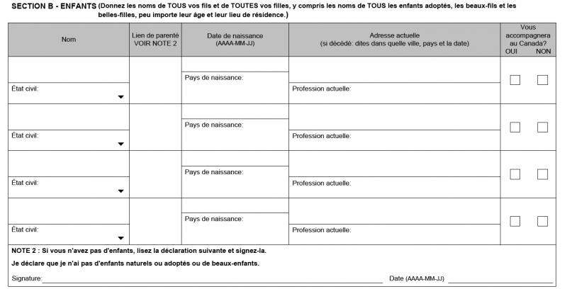Section-B-formulaire-IMM5707-tutoriel-PVT-Canada