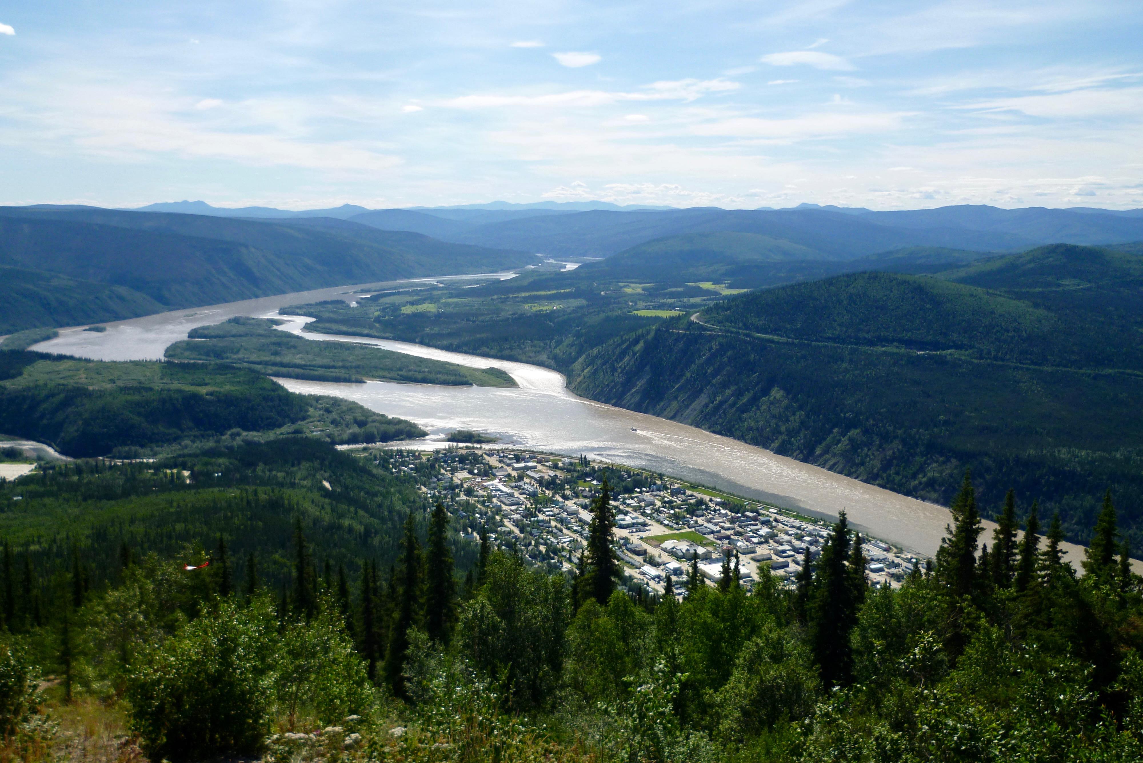 46-Vue sur Dawson City 2