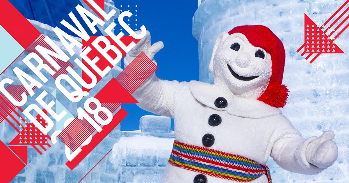 Carnaval de quebec - bonhomme de neige