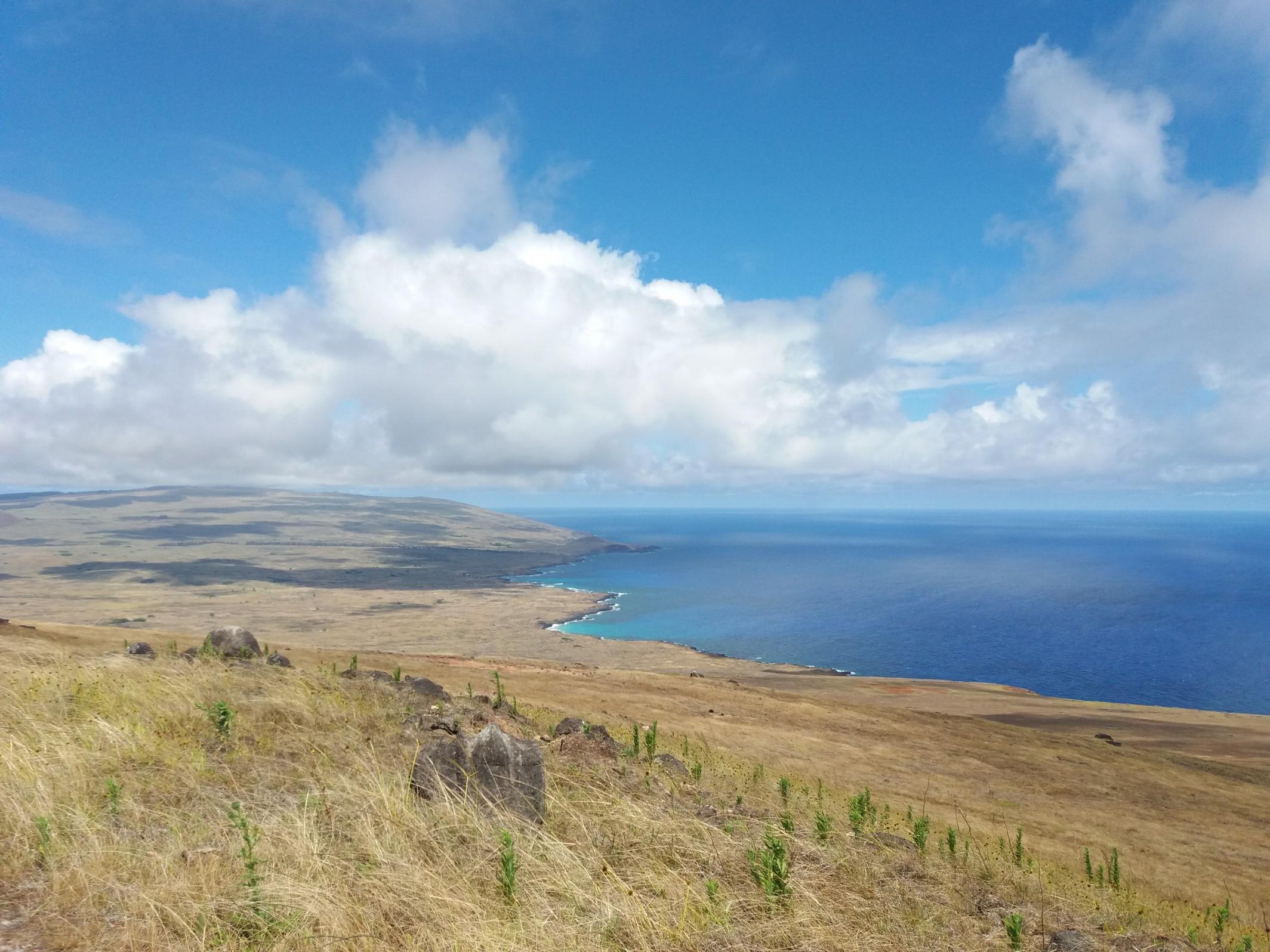 Vue depuis le volcan Poike