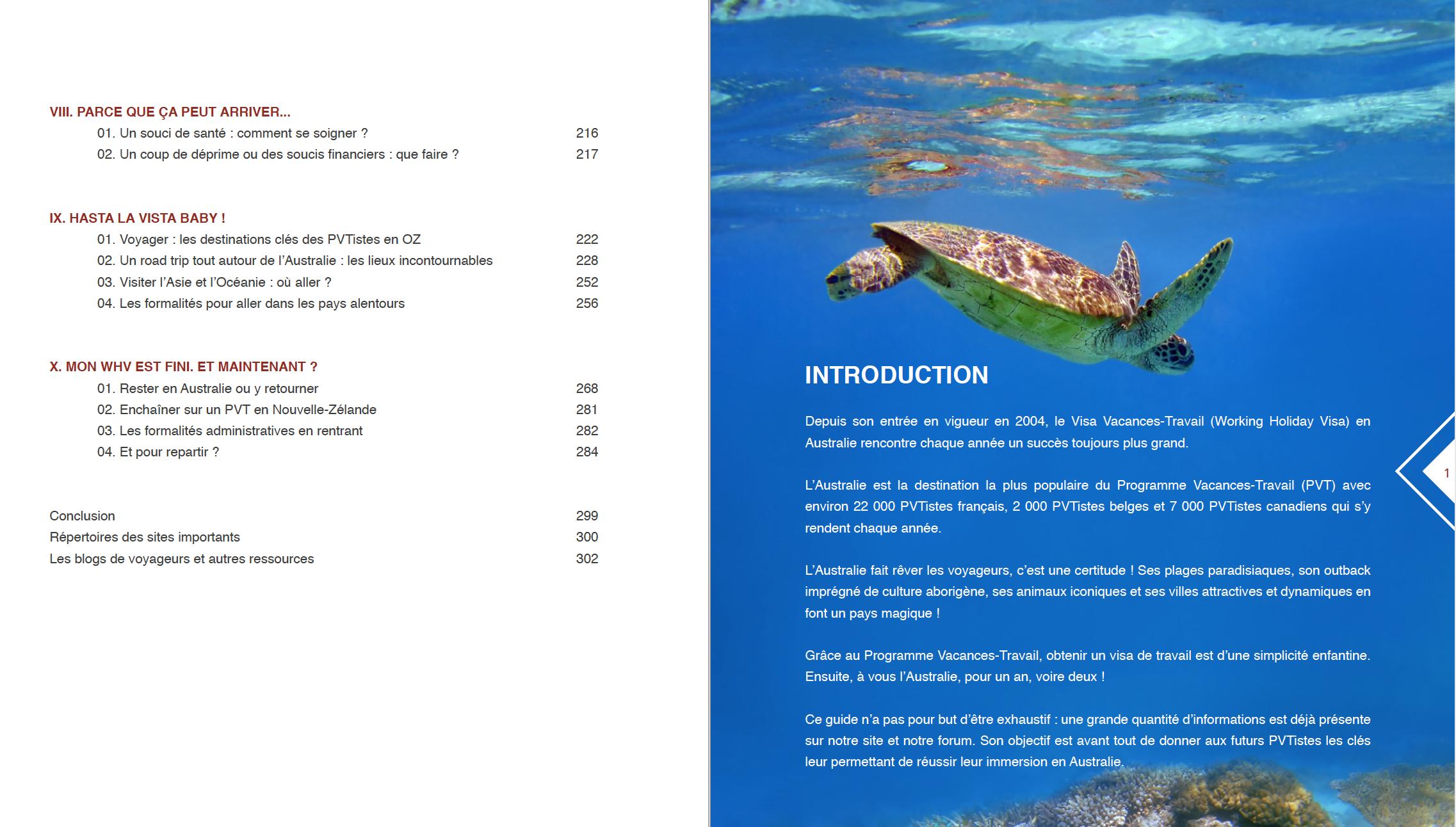 Sommaire - Intro guide des PVTistes en Australie