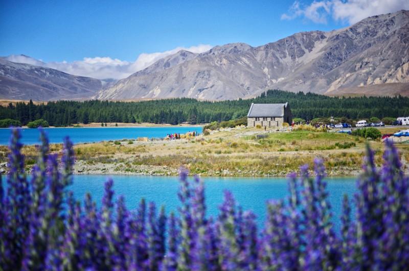 lake tekapo endroits naturels Nouvelle-Zélande