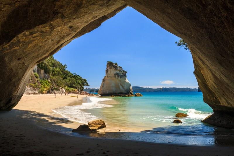 cathedral cove endroits naturels Nouvelle-Zélande