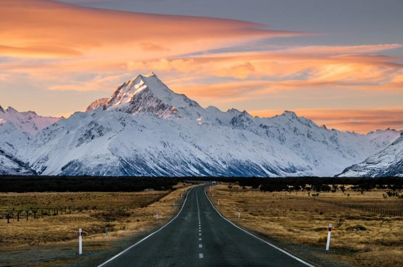 mount cook endroits naturels Nouvelle-Zélande